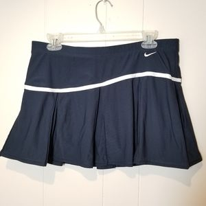 Nike pleated tennis blue skirt size M with short